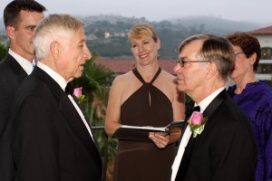 080717 Terri Officiate for Ken and George at St Regis Hotel in Dana Point same sex wedding small