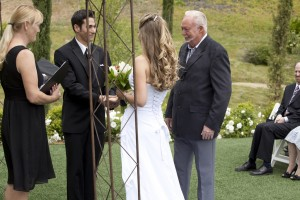 110514 Terri officiate Ashley and George at Faulkner Vineyard Temecula