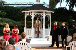 Orange County Laguna Beach Hotel gazebo wedding ceremony Terri Linzmeier officiate
