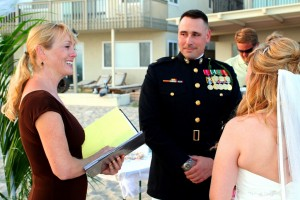 Orange County Wedding ceremony at Capo Capistrano Beach Dana Point CA Terri Linzmeier minister 2