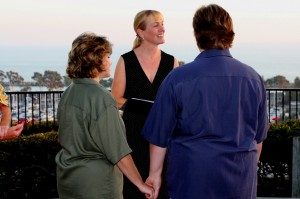 Orange County same sex gay lesbian weddings Heritage Park Dana Point Terri Linzmeier officiate