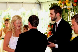 Orange Los Angeles County Wedding Ceremony Westminster Country Club Matthew Linzmeier officiant