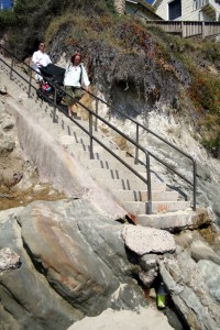 laguna Beach Moss Beach stairs wedding ceremony www.WeddingsbyTerri.com