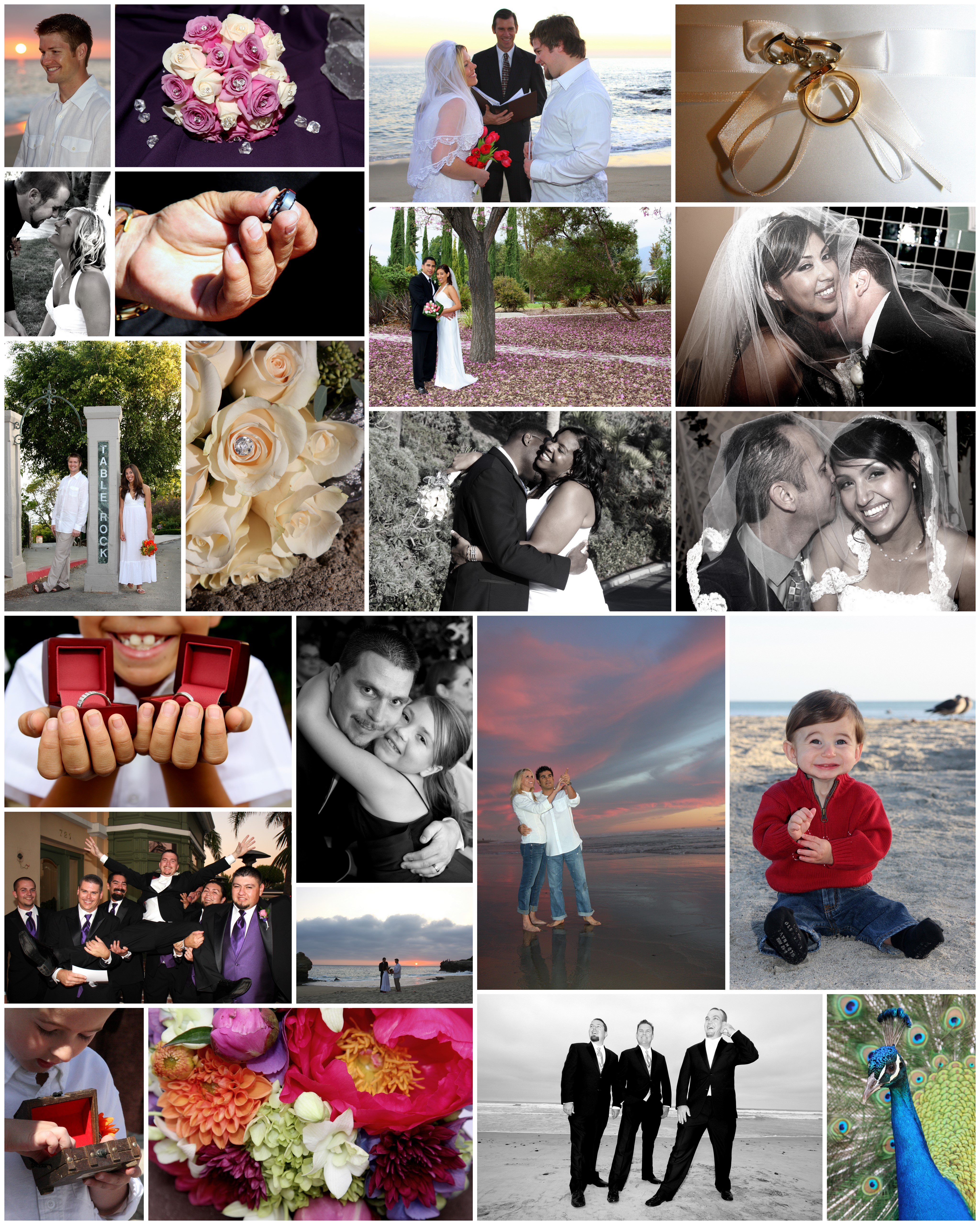 www.WeddingsbyTerri.com picture collages of weddings in Orange County Los Angeles and San Diego  (6)