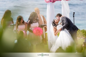 140800 Terri Lange Linzmeier officiant wedding Robert and Jennifer at La Jolla Wedding Bowl 1 of 2