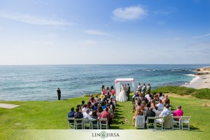 140800 Terri Lange Linzmeier officiant wedding Robert and Jennifer at La Jolla Wedding Bowl 2 of 2