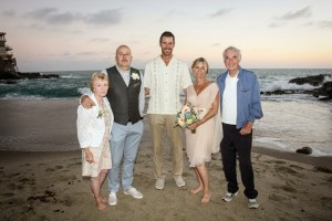 140900 Mark officiate wedding of Annette and Rick at Table Rock Beach Laguna