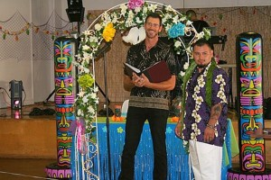 Mark at Evelinas Hawaiian Wedding