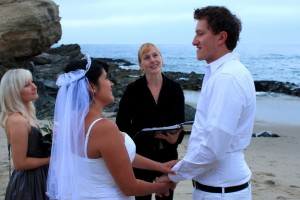 Orange County Laguna Beach wedding in the sand at Table Rock Terri Linzmeier officiate 2