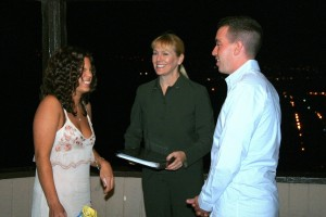 Orange County Weddings by Terri officiating at Blue Lantern Gazebo Dana Point