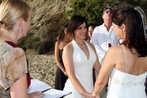 Orange County same sex gay lesbian weddings laguna beach divers cove Terri Linzmeier officiant