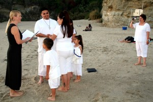 Orange County wedding renewal ceremony in Laguna Beach Terri Linzmeier Minister